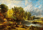 The Young Waltonians - Stratford Mill by John Constable