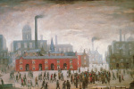 An Accident by L S Lowry