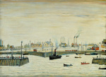 The Harbour (Maryport) 1957 by L S Lowry
