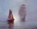 Night Mist by Montague Dawson