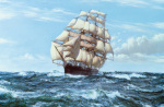 Racing Home - 'The Cutty Sark' by Montague Dawson