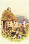 Highland Cottage by Myles Birket Foster