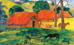 Village in Tahiti by Paul Gauguin