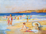 Beach at Biarritz by Paul Michel Dupuy