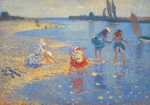 Walberswick: Children Paddling