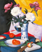 Peonies and Fruit by Samuel John Peploe