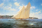 Racing Schooner 'Westward' by Steven Dews