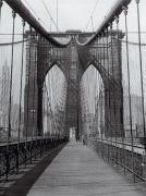 The Brooklyn Bridge, Sunday am by Hulton Collection
