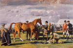 The Red Prince Mare by Sir Alfred Munnings