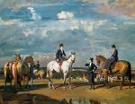 Why weren't you out yesterday by Sir Alfred Munnings