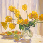 Yellow Tulips and Apples by Valeriy Chuikov
