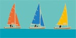 Sailing Trio I by Emily Burningham