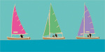 Sailing Trio II by Emily Burningham