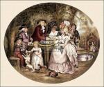 A tea garden (small) by George Morland