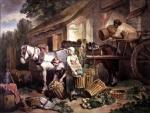 Preparing for market by Francis Wheatley