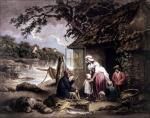 The fisherman's hut (small) by George Morland
