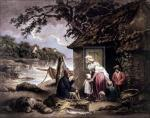 The Fisherman's Hut (large) by George Morland