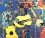 Three Folk Musicians, 1967 by Romare Bearden