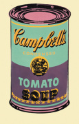 Campbell's Soup Can 1965 (green & purple)