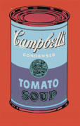 Campbell's Soup Can 1965 (blue & purple)