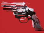 Guns c.1981-82 (white and black on red)