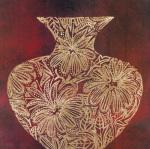 Eggplant Vase (gold foil stamped)