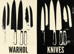 Knives c.1981-82 (cream & black)