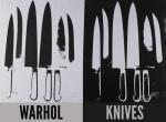 Knives c.1981-82 (silver & black)