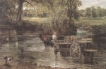 Detail from The Hay Wain, 1821 by John Constable