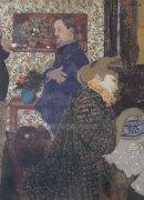 Misia and Vallotton at Villeneuve, 1899 by Edouard Vuillard