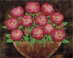 Playful Peonies by R. Rafferty