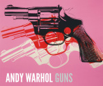 Gun c.1981-82 (black white red on pink)