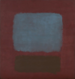 Nº.37 & Nº.19 (Slate Blue and Brown on Plum)