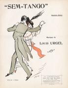 Tango dancing couple by Sem