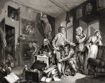 The Rake's Progress, the Heir by William Hogarth