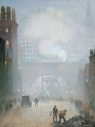 York Street Leading To Charles Street, Manchester by Pierre Valette