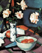 Still Life With Roses by Samuel John Peploe
