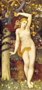 Eve tempted by John Roddam Spencer Stanhope