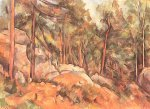 Rocks in the Park of Chateau Noir by Paul Cezanne