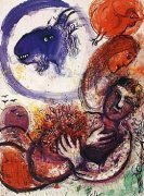 The Blue Goat by Marc Chagall