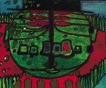 Gruener Buddha by Friedensreich Hundertwasser