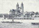 Magdeburg, Dom (landscape) by Bruck