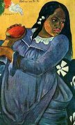 Woman with Mango by Paul Gauguin