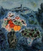 Violet Bouquet by Marc Chagall