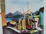 Landschaft bei Hammamet by August Macke