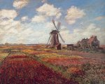 Tulips in Holland by Claude Monet
