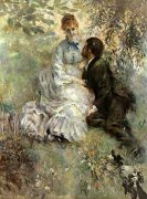 Idyll (Loving), 1875 by Pierre Auguste Renoir
