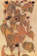 Sonnenblumen by Egon Schiele