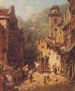 Landesvaterbesuch by Carl Spitzweg