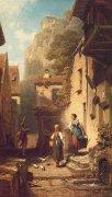 Husar by Carl Spitzweg